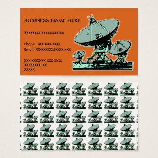 Retro Satellite Dish Graphic Business Card