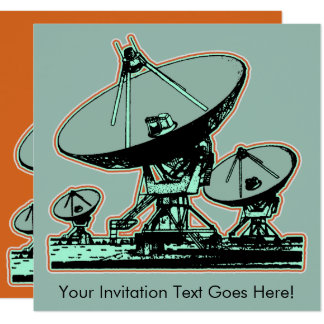 Retro Satellite Dish Graphic Card