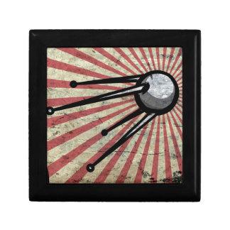 Retro satellite small square gift box