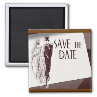 Retro Save The Date Refrigerator Magnets