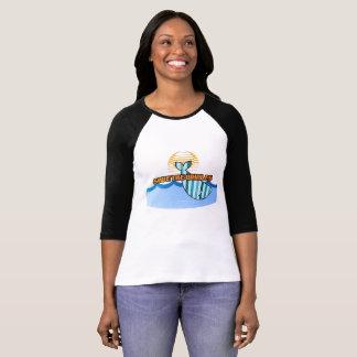 Retro Save the Whales 3/4 Sleeve Raglan T-Shirt