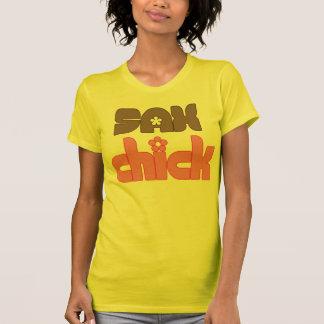 Retro Sax Chick Saxophone Tee Shirts