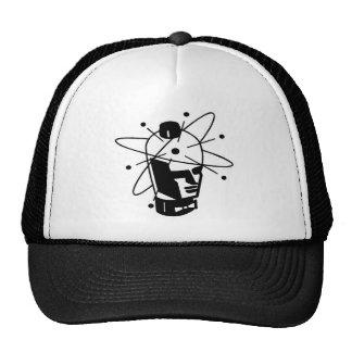 Retro Sci-Fi Robot Head - Black & White Cap