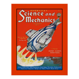 Retro Science Fiction 1931 cover magazine Poster