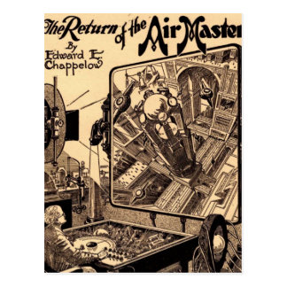 Retro Science Fiction Return of the Air Master Postcard