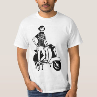 Retro Scooter Girl T-Shirt