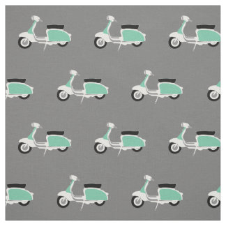 Retro Scooter Printed Fabric by Rupert & Poppy