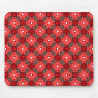 Retro Seamless Geometric Floral Pattern Mouse Pad