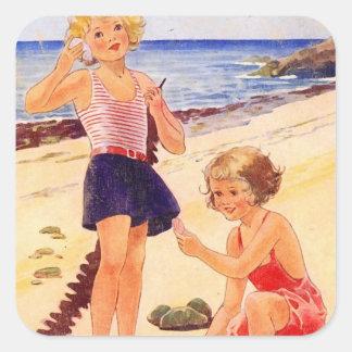 Retro Seashore Sticker