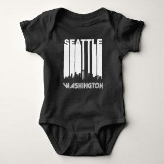 Retro Seattle Skyline Baby Bodysuit
