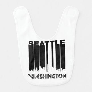 Retro Seattle Skyline Bib