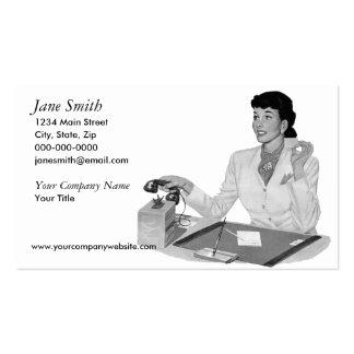 Retro Secretary Pack Of Standard Business Cards