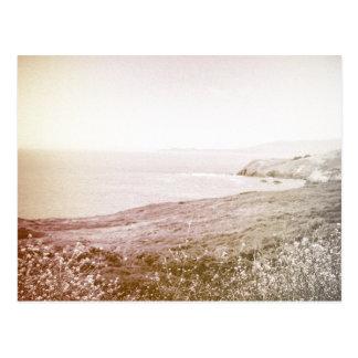 Retro Sepia California Coast | Postcard