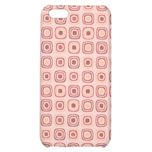 Retro Seventies style pink for women Cover For iPhone 5C