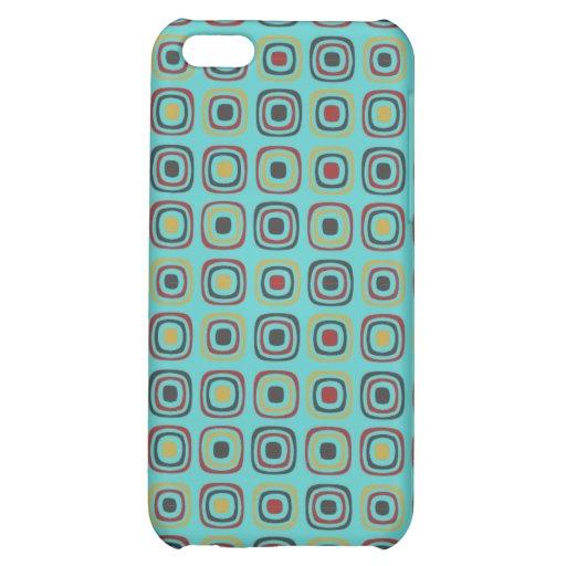 Retro Seventies style soft cyan iPhone 5C Case