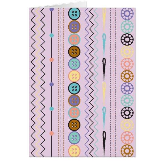 Retro Sewing Stripe Card