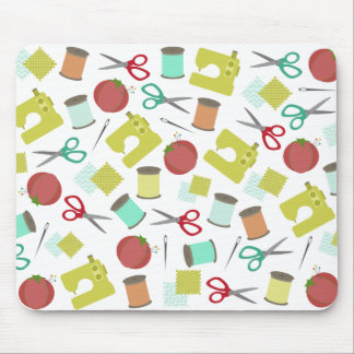 Retro Sewing Themed Mousepad