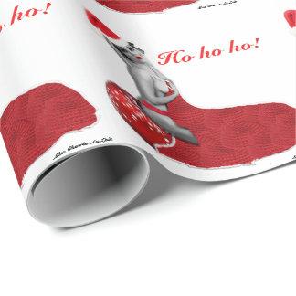 Retro Sexy Pinup Girl Art Christmas Gift Wrap Ho!