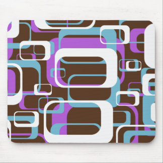 Retro Shapes Pattern Mouse Pad