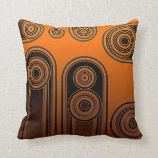 retro shapes throw pillow
