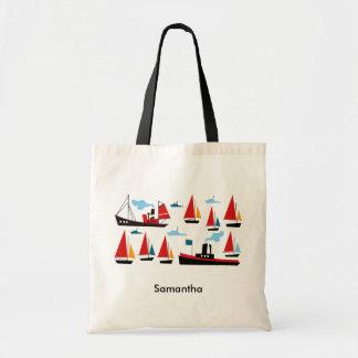 Retro Ships and Boats Tote Bag
