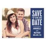 Retro Side Strip | Save the Date Announcement