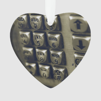 Retro Silver Telephone Buttons