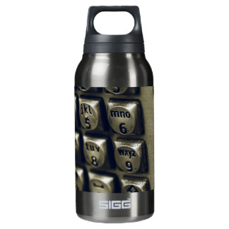Retro Silver Telephone Buttons Insulated Water Bottle