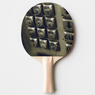 Retro Silver Telephone Buttons Ping Pong Paddle