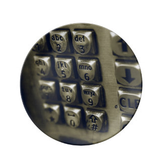 Retro Silver Telephone Buttons Plate