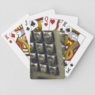 Retro Silver Telephone Buttons Playing Cards