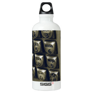 Retro Silver Telephone Buttons Water Bottle