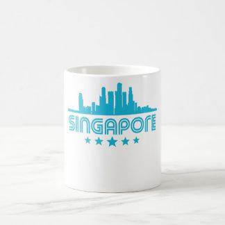 Retro Singapore Skyline Coffee Mug