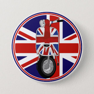 Retro Sixties Scooter with UJ decal 7.5 Cm Round Badge