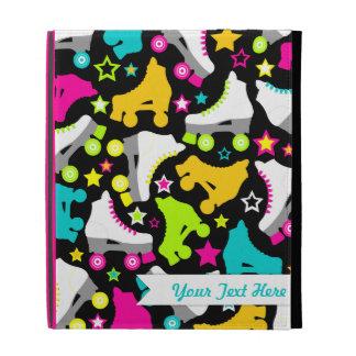 Retro Skates (Black) iPad Folio Cover