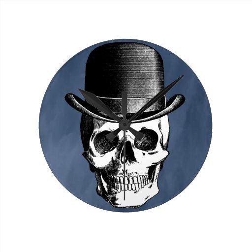 Retro Skull Head Round Wallclocks