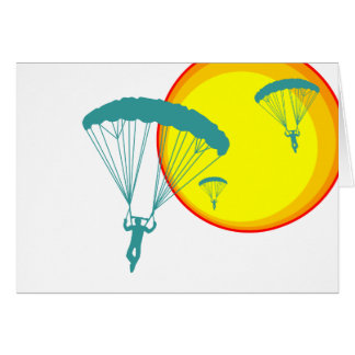 retro sky divers card
