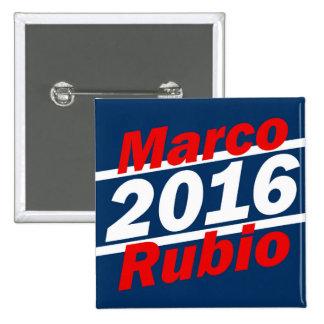 Retro Slant Marco Rubio 2016 Campaign 15 Cm Square Badge