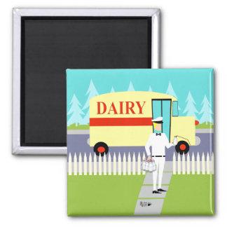 Retro Small Town Milkman Magnet