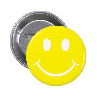 Retro Smiley 6 Cm Round Badge