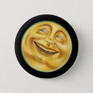 Retro Smiling Harvest Moon 6 Cm Round Badge