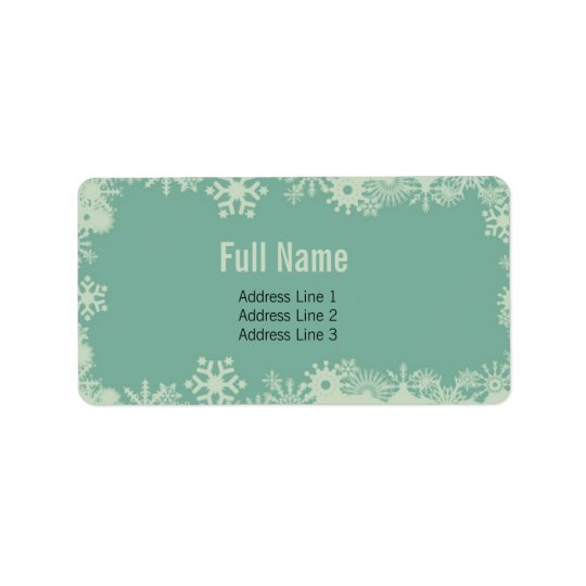 Retro Snowflakes 3 christmas labels