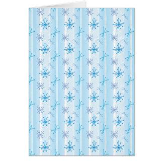 Retro Snowflakes Note Card
