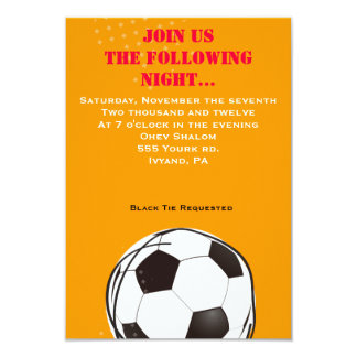 Retro SOCCER Themed Bar Bat Mitzvah Party Card Personalized Invitations