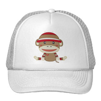 Retro Sock Monkey Trucker Hat