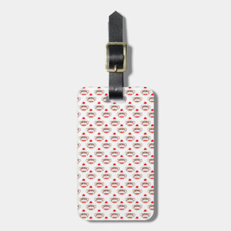 Retro Sock Monkey Pattern Luggage Tag