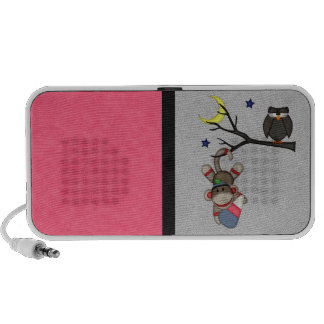 Retro Sock Monkey iPod Speaker