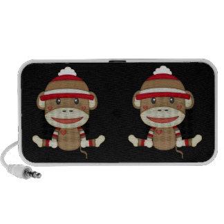 Retro Sock Monkey Portable Speaker