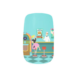 Retro Soda Fountain Minx Nail Art Decals