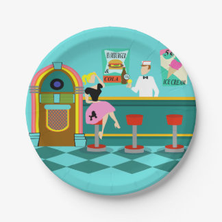 Retro Soda Fountain Paper Plates
